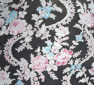 BEAUTIFUL TIMEWORN ANTIQUE 19thc FRENCH COTTON INDIENNE, c1870s, REF