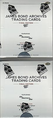 James Bond Archives Final Edition - 2 (TWO) Factory Sealed Trading Card Boxes