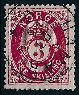 [3991] Norway 1871-75 good classic stamp very fine used with nice cancel