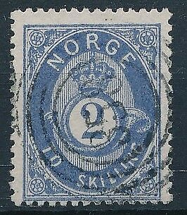 [3993] Norway 1871-75 good classic stamp very fine used with nice cancel