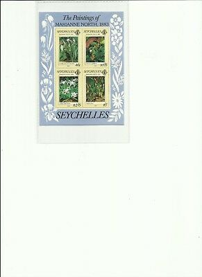 Seychelles - The Paintings Of Marianne North 1883 - Miniature Sheet