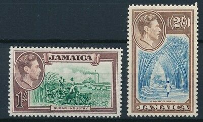[54012] Jamaica 1938 lot of 2 good MH Very Fine stamps