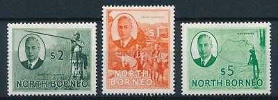 [54033] North Borneo 1950-52 lot of 3 good MH Very Fine stamps