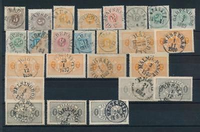 [G11160] Sweden good lot of classics stamp used. The most is very fine