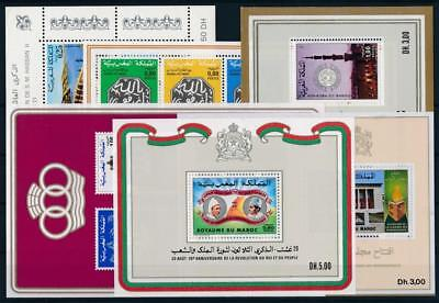 [G113713] Morocco Good lot of 6 sheets Very Fine MNH