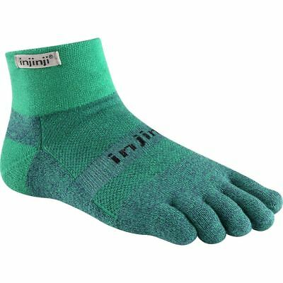 Injinji Trail Mid-Weight Mini-Crew COOLMAX® Technology - Size Small Emerald