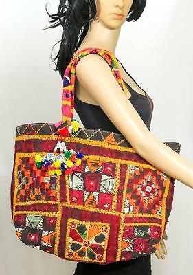 Banjara Embroidery Ethnic Vintage Big Handmade Ats Tribal Tassel Rare Bag