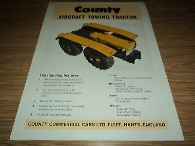 County Aircraft Towing Tractor Brochure Super 6 - 1004 (Ford Massey Ferguson)