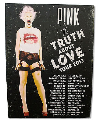 "Pink P!nk ""vintage Scream"" Truth About Love Tour Wall Poster Litho New Official"