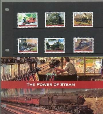 (C349)  Isle of Man  2004 THE POWER OF STEAM PRESENTATION PACK MNH