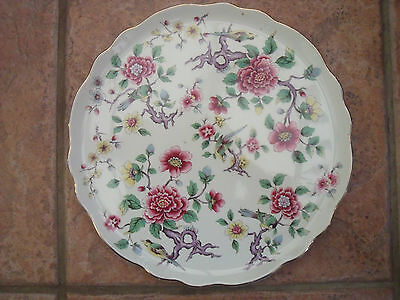James Kent Old Foley Cake Plate/Bread & Butter Plate  'Chinese Rose' pattern