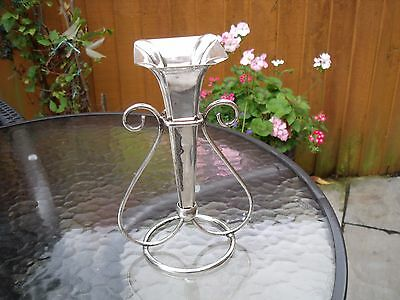 Silver Plated Epergne with Single Trumpet Vase & Stand.