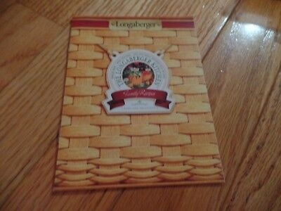 Longaberger Kitchen Family Recipes booklet, 12 pages