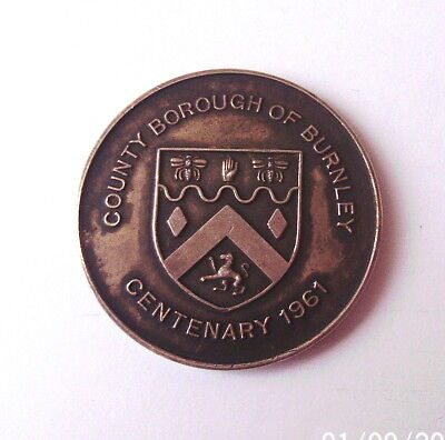 County Borough Of Burnley Angling Medal Sterling Silver 1961