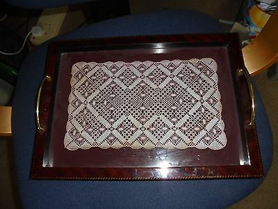 Gorgeous Butlers tray with antique lace insert