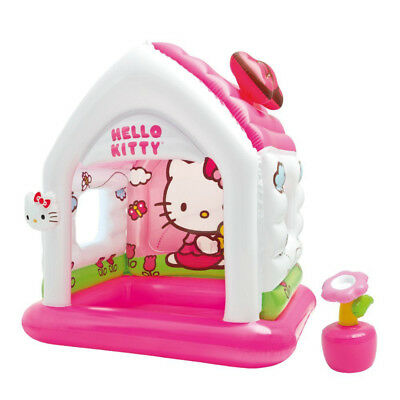 Intex Hello Kitty Kids Inflatable Indoor Playroom Fun Cottage Playhouse Toy