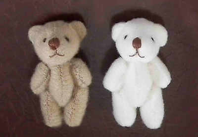 1/12 Dolls House miniature 2x Teddy Bears Teddies Set Nursery Toy Cot Fairy LGW