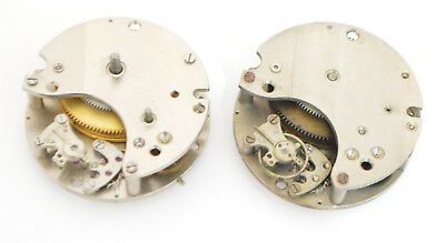 Jaeger LeCoultre 8 Days Lot two Vintage clock movements calibers 208 and 222