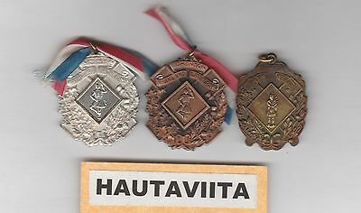Scottish Highland Gathering Medals Edmonton Alberta 1950-60s B/Silver Gold SDTA