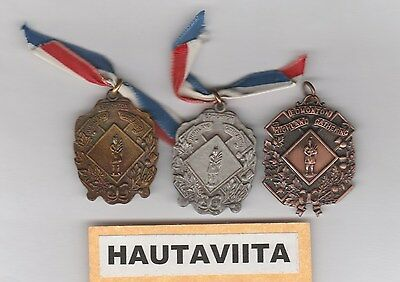 Scottish Highland Gathering Medals Edmonton Alberta 1950-60s B/ Silver Gold SDTA