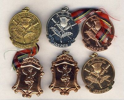AHDA Jasper Alberta Scottish Highland Dance Medal Group B/S Gold 1950-60s SDTA