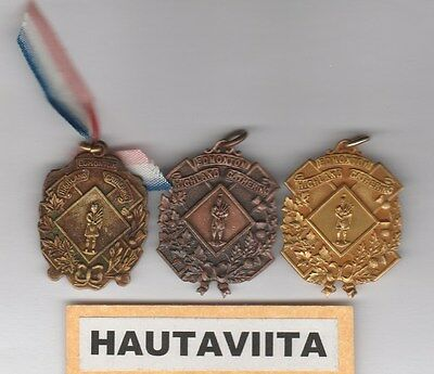 Scottish Highland Gathering Medals Edmonton Alberta 1950-60s Bronze Gold SDTA