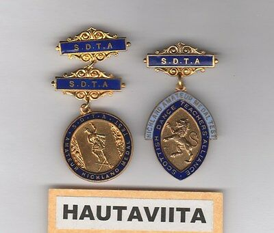 Scottish Highland Medals Test SDTA Dance Teachers Alliance Gold 1950-60s