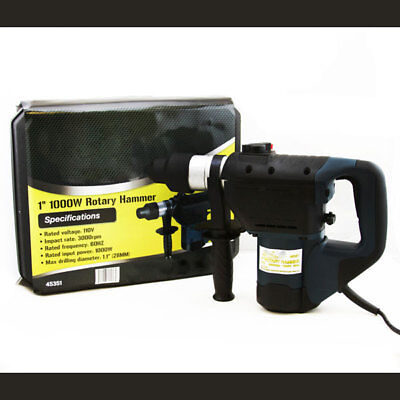 """1-1/2"""" Electric SDS Rotary Hammer Drill Tool Kit w/Case"""