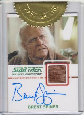Star Trek the Next Gereration -  Brent Spiner Autograph Costume Card - Dr. Soong