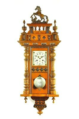 Antique German Junghans Spring Driven Wall Clock approx.1910