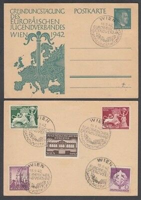 Germany 1942 Youth Congress Postal Stationery Postcard (Id:355/d48282)