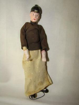 Antique/Vintage CHINESE Opera Puppet Male Doll, Silk Clothing, CHINA