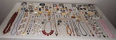 Giant Estate Jewelry Lot - 14K GOLD, 925, RUBY, PEARLS, CROWN TRIFARI, MUCH MORE
