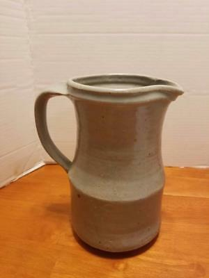 Vintage salt glazed  stoneware crock pitcher