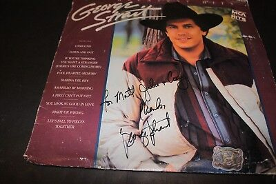 George Strait Greatest Hits Signed LP Fair Condition