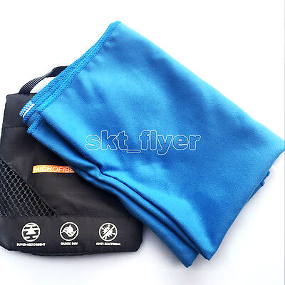 Blue Travel Camping Microfiber Quick Drying Towel Shower Beach Swim Sport Yoga