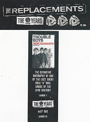 THE REPLACEMENTS BOOKMARK 2016 Official Promo Sire Years Trouble Boys MINT NEW