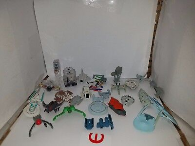 Vintage Micro Machines Lot of 28 Star Wars and Star Trek vehicles