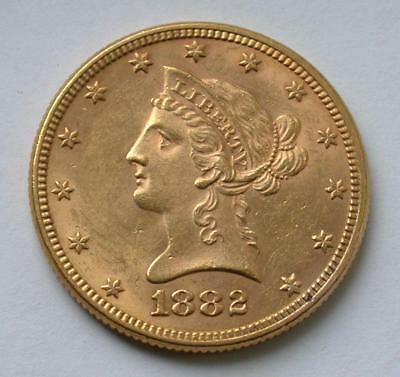 1882 $10 Ten Dollar Liberty Eagle United States Gold Coin