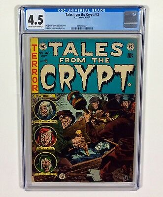 TALES FROM THE CRYPT #42 CGC 4.5 (Dracula cover by Jack Davis) 1954 EC Comics