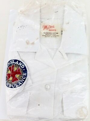 1990's OBSOLETE QLD AMBULANCE SHIRT BY MITEX. NEVER WORN, STILL IN ORIGINAL PKT.