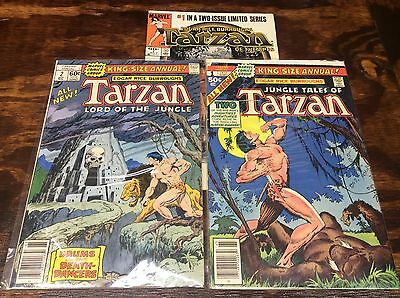 Tarzan Annual #1-2 (Marvel/1977/of The Apes #1/111524) Set Lot Of 3
