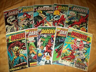 Daredevil # 121 - 130 Comics Complete VF NM Run Hi Grade Lot 123 124 125 126 127