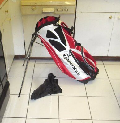 TaylorMade lightweight golf stand bag red/white/black dual strap