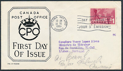 1963 #411 Export $ FDC, CPO Presentation Cachet with Letter, to Portugal