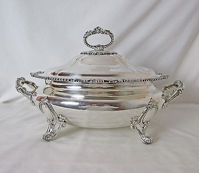 English Sheffield Silver Plated Covered Tureen Circa 1854 – 1875 Banquet Size