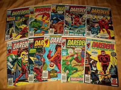 Daredevil # 141 - 150 Comics Complete VF NM Run Hi Grade Lot 143 144 145 146 147