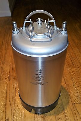 NSF # 29748PS 3 Gallon Ball Lock Keg Stainless Steel New In Box Never Used