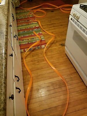 VINTAGE RETRO HOT WHEELS RED LINE CAR TRACK ORANGE 50 ft ONE CONTINUOUS PIECE !!