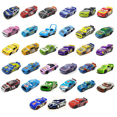 Disney Pixar Cars Diecast Piston Cup Number 4 to 123 Racers Loose Car Collection